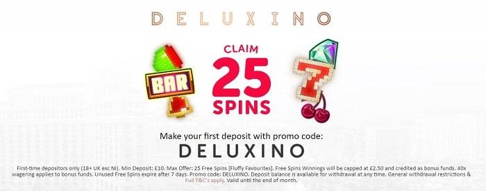 Deluxino Casino Welcome Bonus New