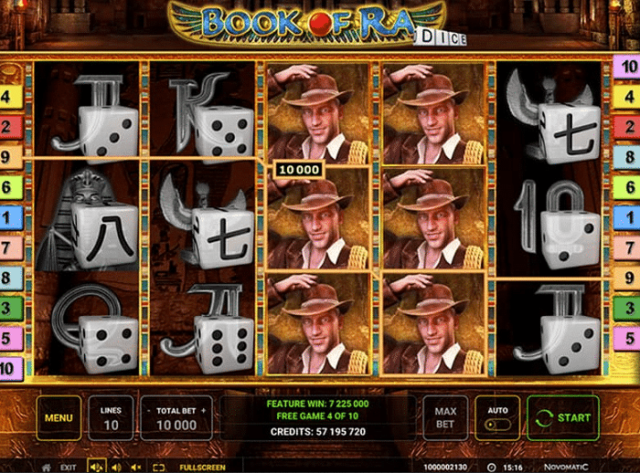 Greentube slot game Book of Ra