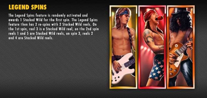 Guns N' Roses Slot Legend Spins