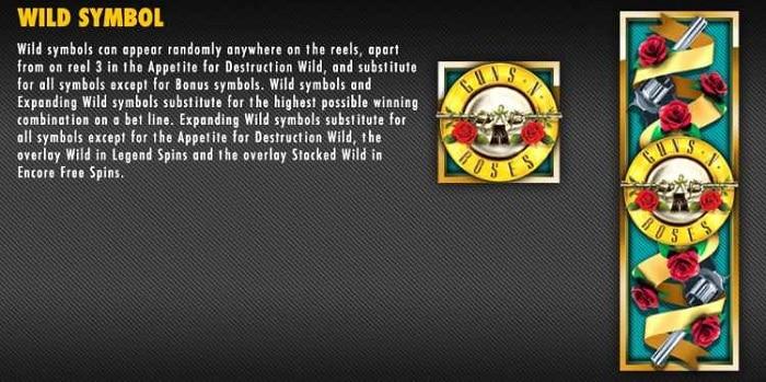 Guns N' Roses Slot Wild Symbol