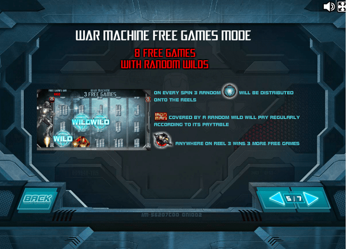 Iron Man 3 Slot - War Machine Bonus Game