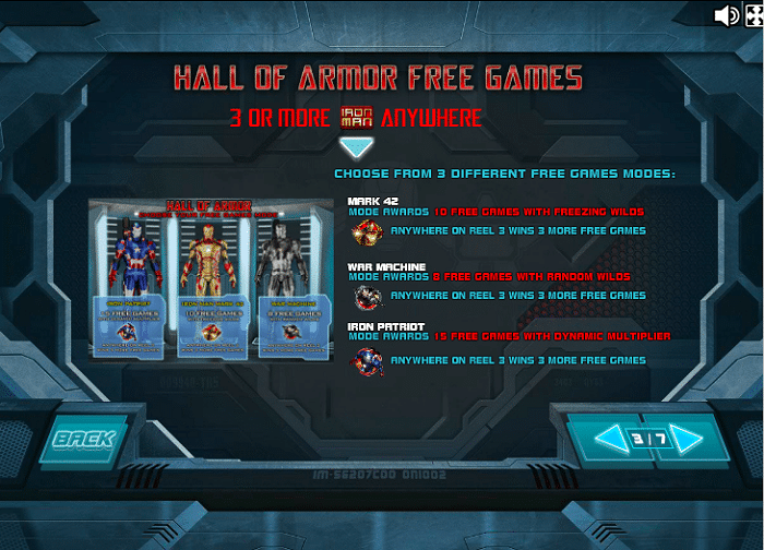 Iron Man 3 Slot - Hall of Armor Free Games