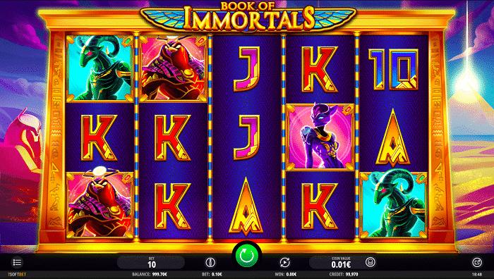 iSoftBet Slot - Book of Immortals