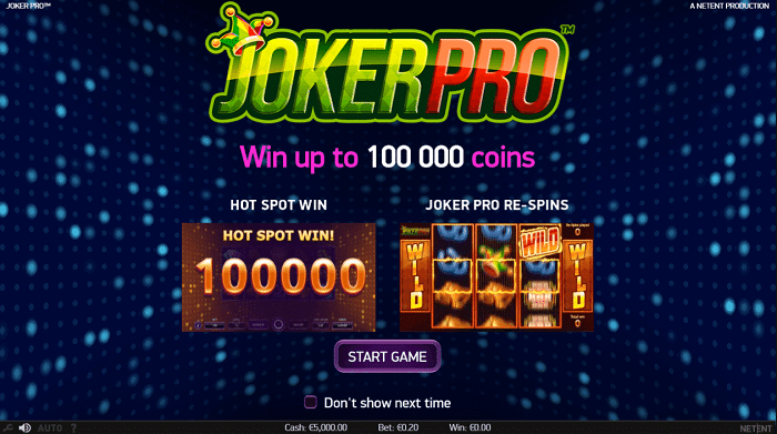 Joker Pro Slot Screenshot