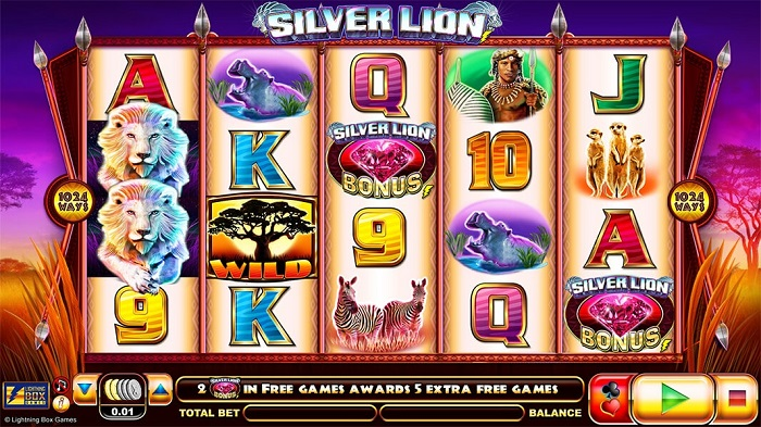 Silver Lion Slot by Lightning Box Games