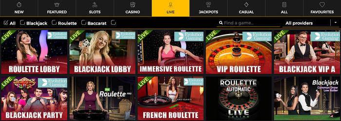 MobileWins Live Casino