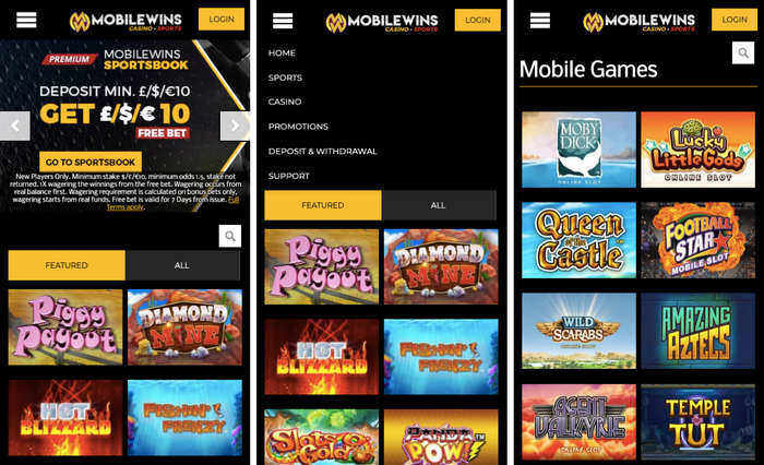MobileWins Mobile Casino