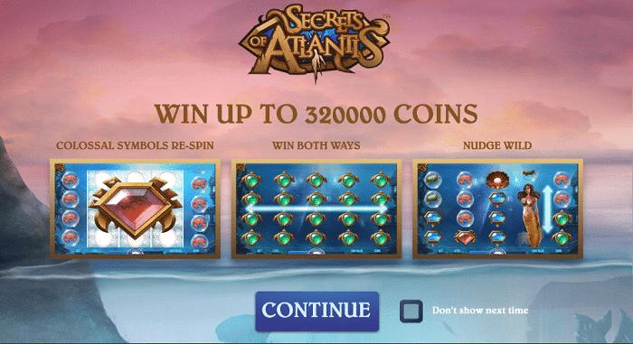 Secrets of Atlantis Slot Features