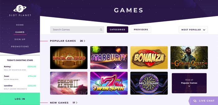 Slot Planet Casino Games