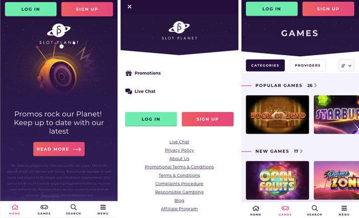 Slot Planet Mobile Casino