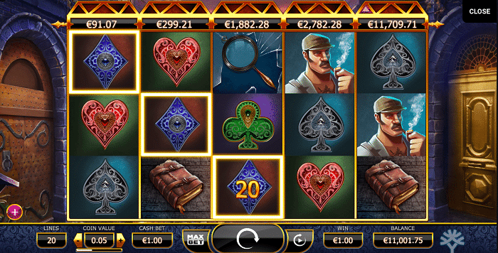 Holmes and the Stolen Stones Slot by Yggdrasil