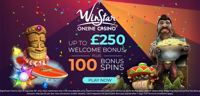 WinStar Online Casino Welcome Bonus