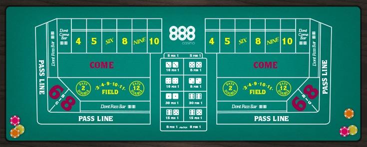 Craps - 888 Casino