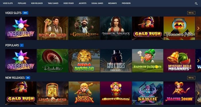 Screenshot of Games at STS Casino