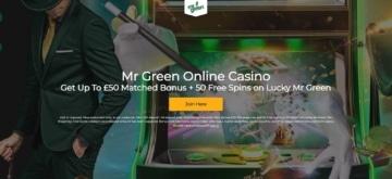 mr green online casino new customer welcome bonus offer