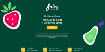 fruity casa new customer welcome bonus offer