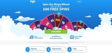bgo welcome bonus offer for new customers