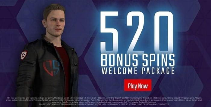 captain spins casino new customer bonus offer
