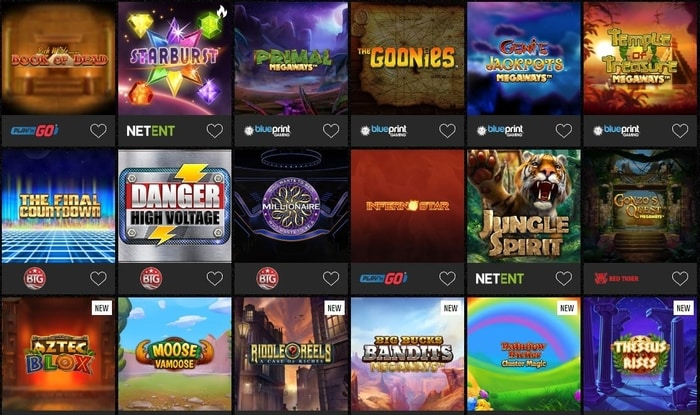 captain spins casino slot games lobby