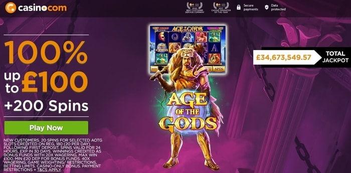 casino.com welcome bonus for new uk players