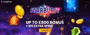 casiplay casino welcome bonus for new uk players