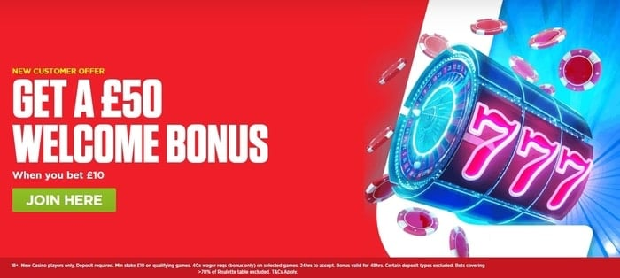 ladbrokes casino new customer offer for uk players
