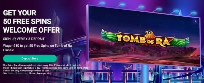pokerstars casino welcome bonus for new uk customers