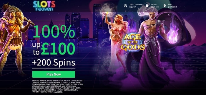 slots heaven casino welcome bonus offer for new uk players