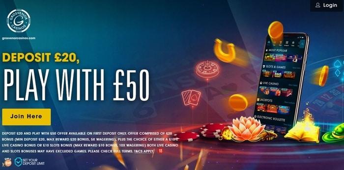 grosvenor casino welcome bonus offer for new uk players