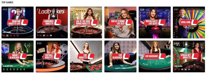 ladbrokes live casino top games