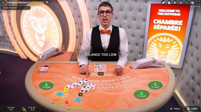 leovegas casino live blackjack