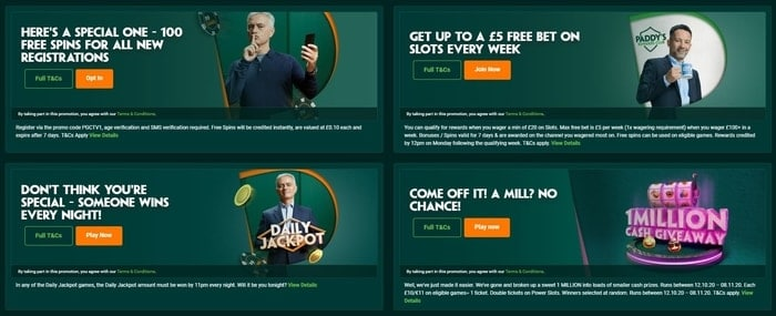 paddy power games promotions for new and existing players