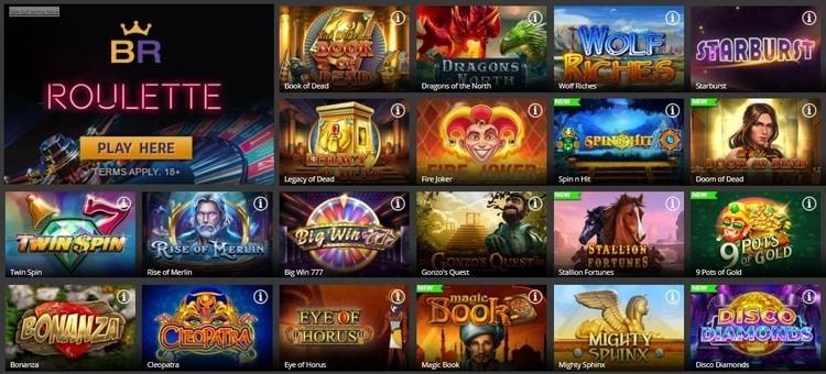 betregal casino top games