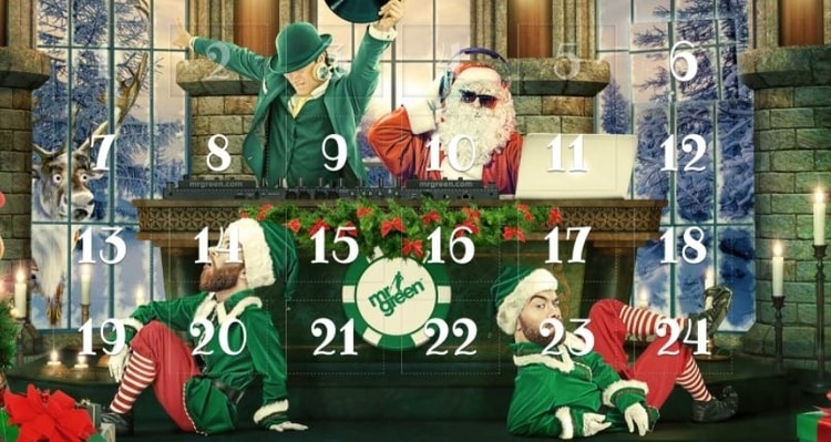mr green chistmas casino bonus advent calendar