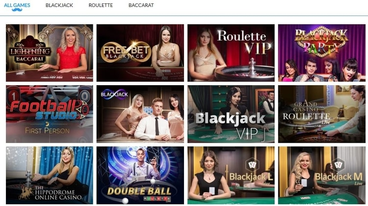 mr play live casino games list