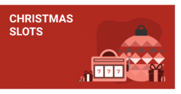 christmas slots red background