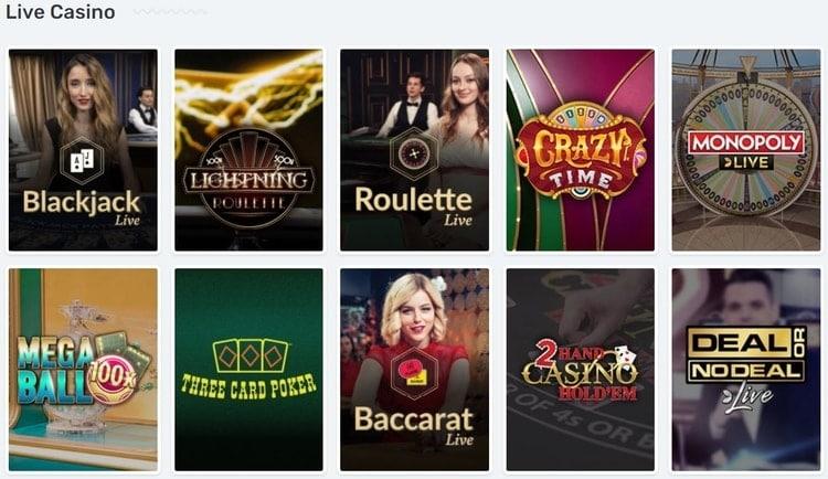 casilando live casino games