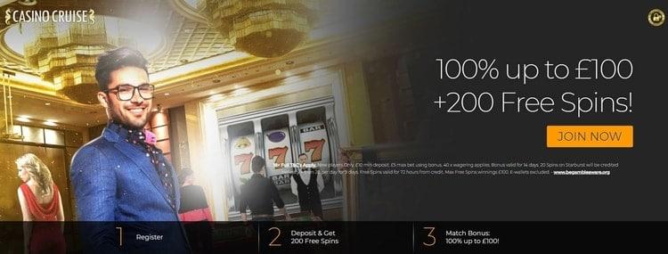 casino cruise welcome bonus for new players