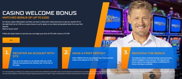 sts casino welcome offer for new players