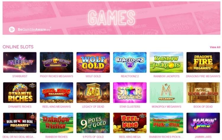 pink casino top slots