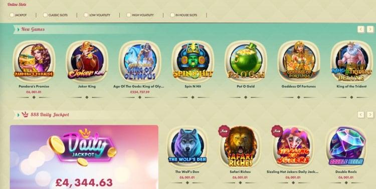 777 casino games list