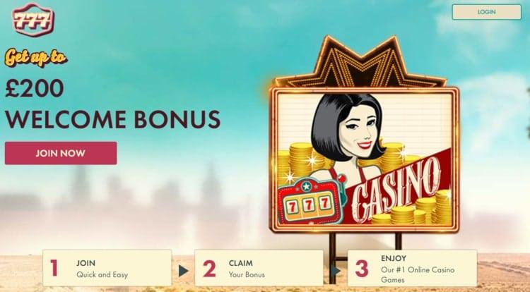 777 casino welcome bonus for new players