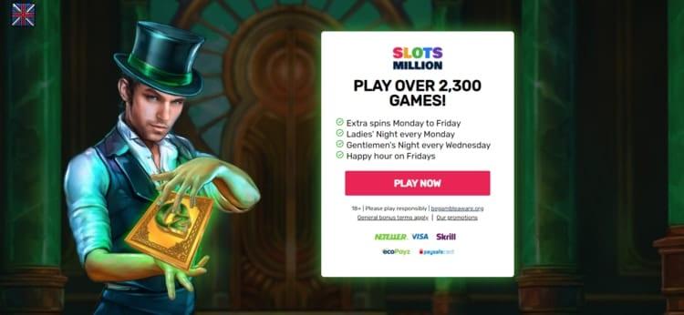 slotsmillion promotions and bonuses