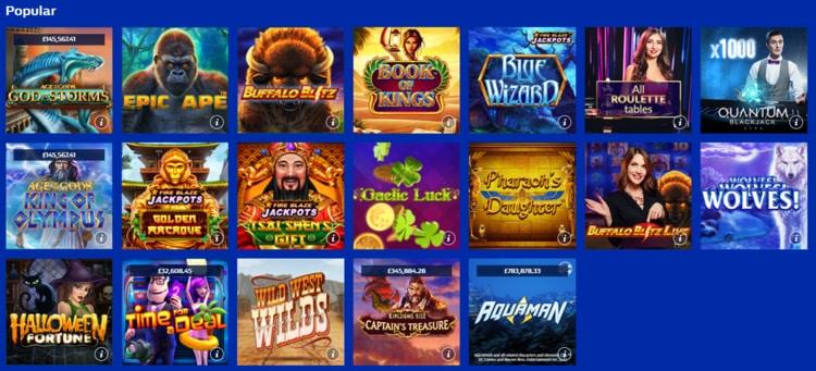 william hill casino popular games