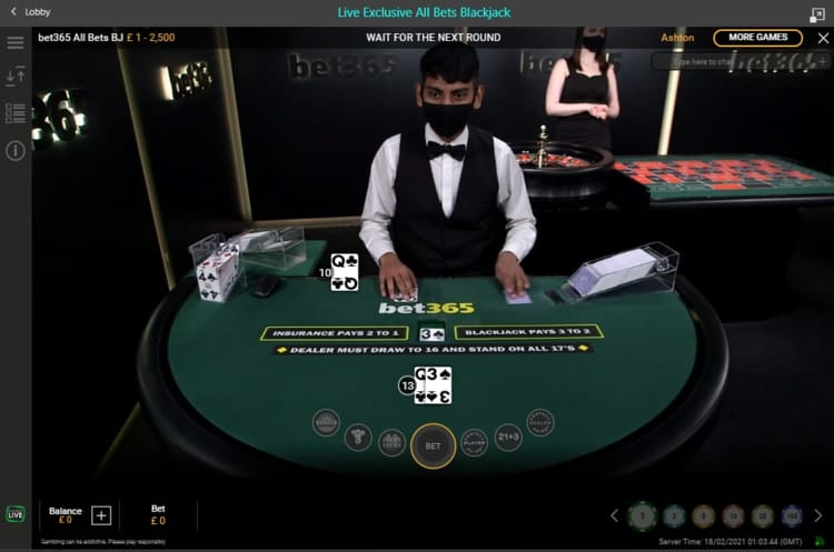 bet365 live blackjack