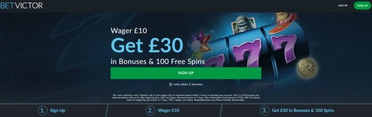 betvictor casino welcome bonus for new customers