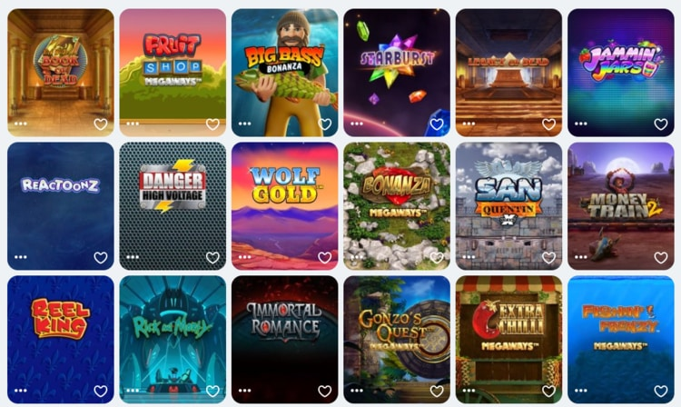 casumo list of top games