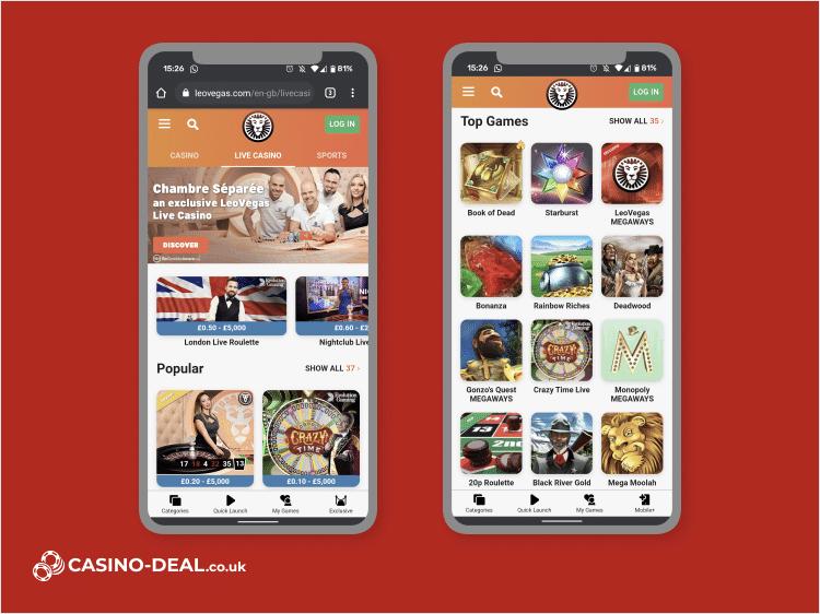 leovegas mobile casino image