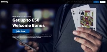 betway casino welcome offer for new players