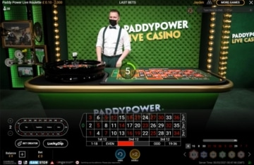 paddy power live roulette table